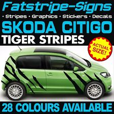 SKODA CITIGO TIGER STRIPES GRAPHICS STICKERS DECALS SE 1.0 SPORT CAR VINYL