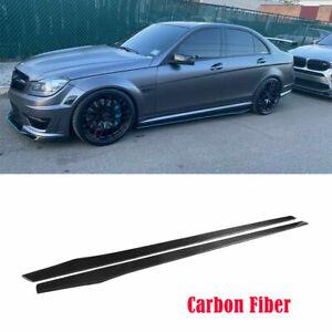 2PCS Carbon Fiber Side Skirts For Audi R8 TT TTS lEXUS IS300 INFINITI G37 215CM