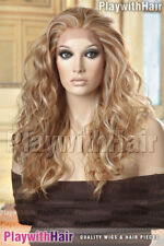 LACE FRONT Wavy New Heat Friendly Wig Strb/Platinum Mix