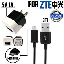 5V 1000mA Wall Charger For for ZTE Citrine, Prestige 2 / ZFIVE 2,MICRO USB Cable