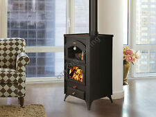Wood Burning Stove Prity 14 kW with an Oven & Legs Log Burner Woodburning Cooker