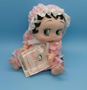 """BABY BETTY BOOP VINYL 9"""" DOLL 1987 KING FEATURES PRESENTS HAMILTON GIFTS W/Tag"""