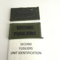 British Army Trade/Skill & Qualification Cloth Badges SECOND FUSILIERS
