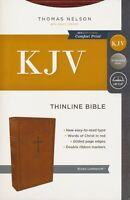 KJV, Thinline Bible, Leathersoft, Brown, Comfort Print BRAND NEW!!!