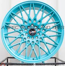 F1R F23 18x9.5/10.5 5x100/114.3 +35/40 Teal Rims Fits Rx8 300z 350z G35 S2000
