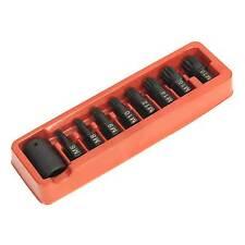"""Sealey Impact Socket Spline Bit / Holder Set 9pc- M6-M18 - 1/2""""Sq Drive - AK5611"""