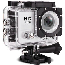 Proscan PAC2000 Waterproof 720p HD Action Camera w/ Built-in Microphone & Mount