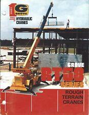 Equipment Brochure - Grove - Rg58 series Rough Terrain Cranes - c1983 (E4035)