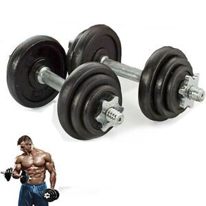 20KG FITNESS CAST IRON DUMBBELLS SET HOME GYM WEIGHTS DUMBBELL WORKOUT WITH CASE