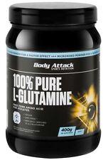 (41,75 Euro/Kg) Pure L-Glutamine Pulver 400g von Body Attack + Produktprobe