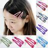 10Pcs Wholesale Multicolour Hair Snap Clips Claws Girls Women Hair Clips Gift