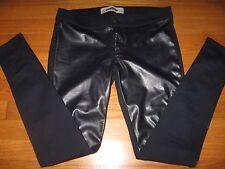 Hollister Blue EUC Skinny Faux Leather Leggings Pants 5R 27 29 Back Pockets!
