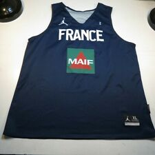 NEW NIKE MICHAEL AIR JORDAN JUMPMAN FRANCE MAIF REVERSIBLE BASKETBALL JERSEY XL