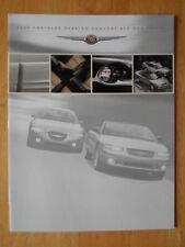 CHRYSLER Sebring Convertible & Coupe 2000 Canadian Mkt sales brochure