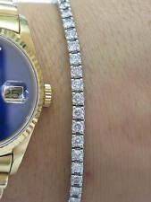 18KT Round Cut Diamond Tennis Bracelet White Gold 5.01Ct G-H