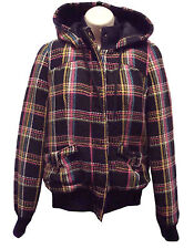 "NWT Women's Roxy ""First Love"" Hooded Coat Black/Multicolor Small"