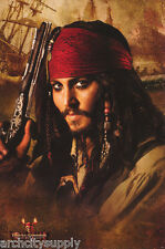 LOT OF 2 POSTERS:MOVIE REPRO :PIRATES OF CARRIBEAN - DEAD MAN'S   #8730 RAP108 C
