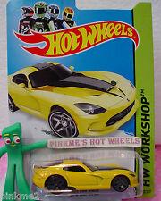 case E 2014 Hot Wheels 2013 Dodge '13 SRT VIPER 2013 #203 US✿Yellow✿HW Garage