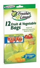 12 x Sealapack Fruit & Vegetable Food Bags Fresher For Longer 2 Different Sizes