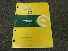John Deere STX30 & STX38 Lawn Tractor Owner Owner's Operator Manual OMM79008
