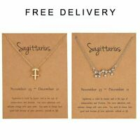 12 Constellation Zodiac Zircon Pendant Necklace Women Men Charm Jewelry Gift
