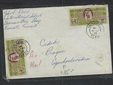 KUWAIT  (P1502B)    1968 UN WHO 45FX2 A/M COVER TO CZECHOSLOVAKIA