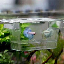 Aquarium Fish Tank Guppy Double Breeding Breeder Rearing Trap Box Hatch npLdu Se