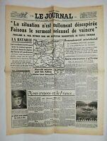 N612 La Une Du Journal Le journal 19 mai 1940 situation nullement désespéré