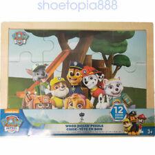 Paw Patrol 12 Wood Puzzles Storage Box Tray Kid Educational Learn Jigsaw Puzzle