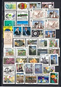 HONDURAS, Collection of stamps on 2 scans cat.val = 123.40€, MNH!