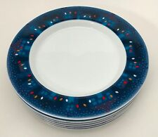 "6 Dansk Village Lights 9"" Salad Dessert Plates BS/NR Sri Lanka"