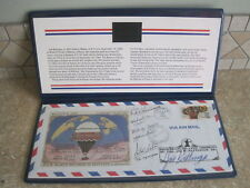 First Solo Transatlantic Balloon Flight Balloon of Peace Fabric SIGNED/NUMBERED