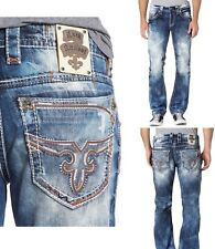 *NWT- ROCK REVIVAL MEN FLANN A204 MENS ALT STRAIGHT JEANS - 29,30,31,32,34,36,38
