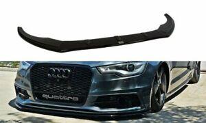 Cup Spoilerlippe SCHWARZ für Audi A6 4G Ansatz Spoilerschwert Frontspoiler ABS 7