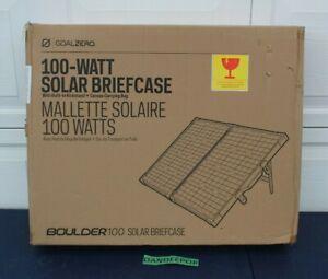 Goal Zero Boulder 100 Watt Solar Briefcase With Built In Kickstand 32408 In Box