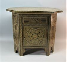 Finely Inlaid ANTIQUE MIDDLE-EAST Cabinet w/ Hidden Compartment & Keys c. 1930