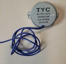 New Listingturntable Synchronous Motor 5060hz Ac 110v 4w 25 3rpm Ccwcw Tyc 50 7mm Shaft