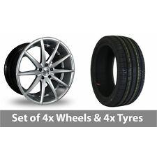 "4 x 18"" AVA New York Hyper Silver Alloy Wheel Rims and Tyres -  215/55/18"
