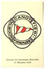 Cartolina Società Canottieri Firenze - Giornata Del Canottaggio Fiorentino 1978