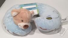 New Kellybaby Baby Neck Pillow Bear Blue Stripe Boy Plush Bumblebee Head Support