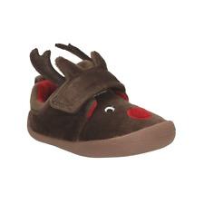 Babies Infant Clarks Reindeer Slippers Shilo Jena new size 3.5 f infant RRP £14