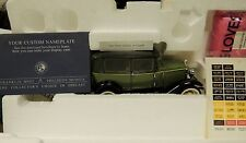 1930 FORD MODEL A TUDOR TWO TONE GREEN by FRANKLIN MINT MWB