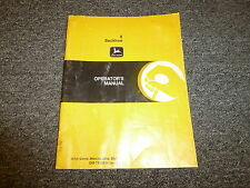 John Deere 8 Backhoe Loader Owner Operator Manual User Guide Omty20744