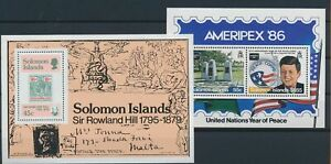 LN23163 Solomon Islands expo sir Rowland Hill sheets MNH