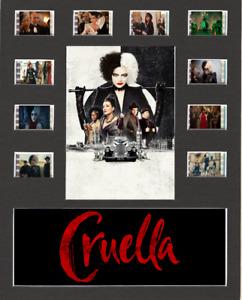 Cruella Movie (2021) replica Film Cell Presentation 10x8 Mounted 10 Cells V2