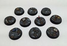 10x 25mm Round Dungeon Flagstone Resin Bases For War Games, Descent, And RPGs
