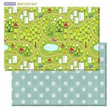 Baby Care Play Mat - Playful Collection (Country Town - Blue, Large) - (Nob)