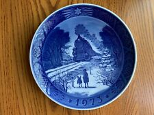 Royal Copenhagen 1973 Christmas Plate - Going Home for Christmas