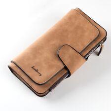 Women Lady Soft Leather Wallet Long Handbag Clutch Phone Bag Card Holder Purse