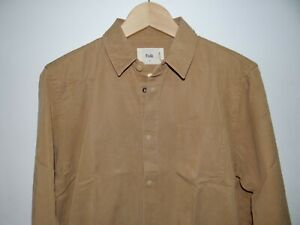 Folk camel Brown Shirt Lyocell cotton - Size M - RRP £150.00